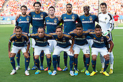 FRISCO, TX - AUGUST 11:  The Los Angeles Galaxy pose for a photo before kickoff against FC Dallas on August 11, 2013 at FC Dallas Stadium in Frisco, Texas.  (Photo by Cooper Neill/Getty Images) *** Local Caption ***