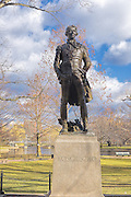 Tadeusz Kosciuszko Statue Boston Public Garden. Tadeusz Kosciuszko served with George Washington in the Revolutionary war