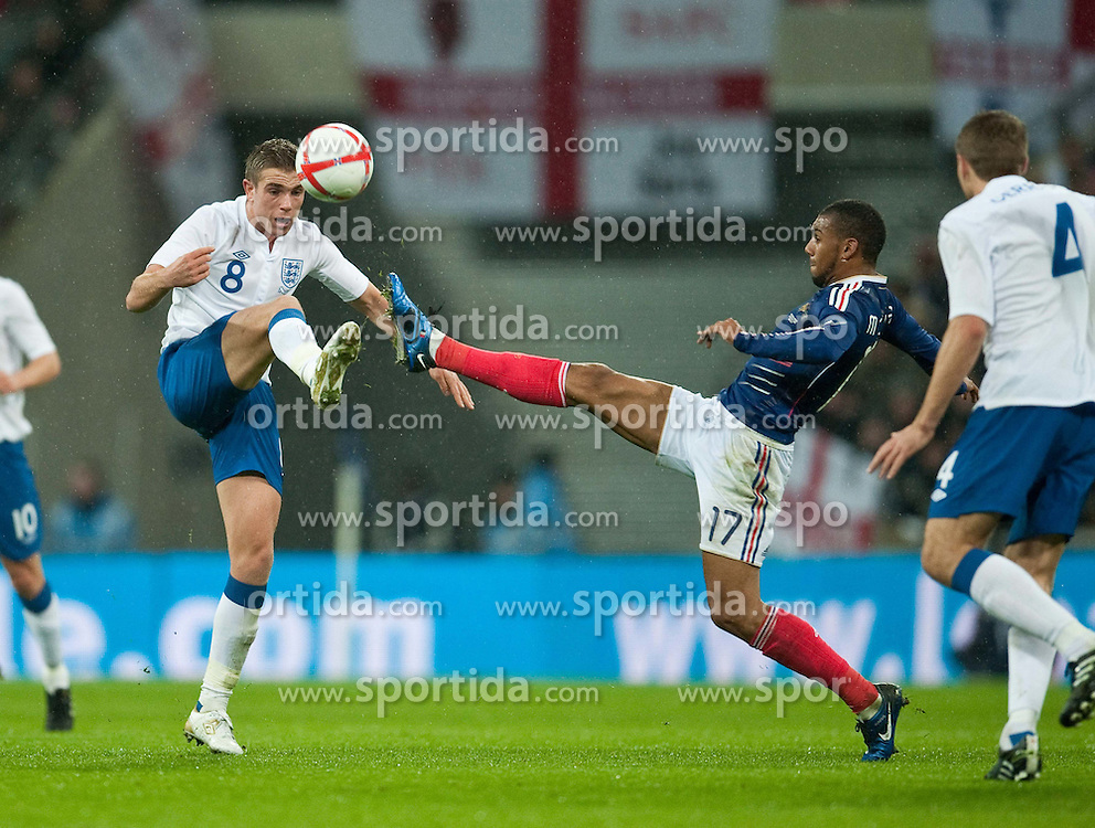 17.11.2010, Wembley Stadium, London, ENG, Freundschaftliches Laenderspiel, England vs Frankreich, im Bild England's Jordan Henderson in action// during the International Friendly match England vs France in London at Wembley Stadium on 17/11/2010, EXPA Pictures © 2010, PhotoCredit: EXPA/ Propaganda/ D. Rawcliffe *** ATTENTION *** UK OUT!
