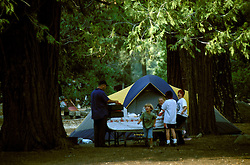 CA: Yosemite National Park, family camping at Yosemite   .Photo Copyright: Lee Foster, lee@fostertravel.com, www.fostertravel.com, (510) 549-2202.cayose214