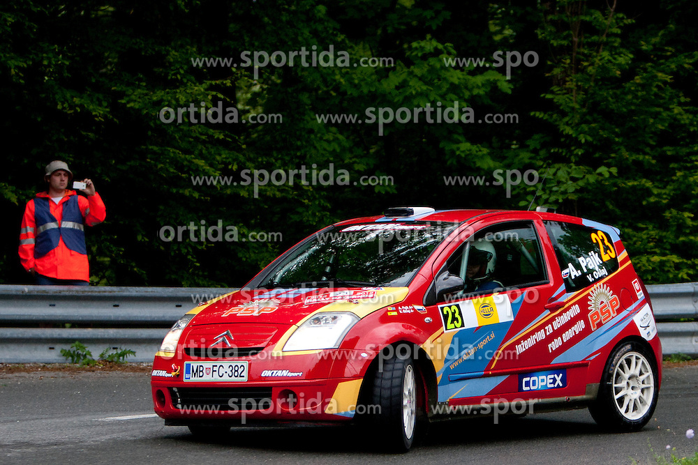 Alan Pajk and Vili Oslaj of SLO during 35th Rally Saturnus, on May 12, 2012, in Trbovlje, Slovenia. (Photo by Urban Urbanc / Sportida)