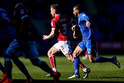 Joe Bryan of Bristol City is challenged by Liam Feeney of Cardiff City - Rogan/JMP - 25/02/2018 - Cardiff City Stadium - Cardiff, England - Cardiff City v Bristol City - Sky Bet Championship.