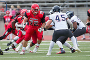 Community College of San Francisco outside lineman David Galten (72) protects the line of scrimmage against College of Siskiyous at Community College of San Francisco in San Francisco, Calif., on September 10, 2016. (Stan Olszewski/Special to S.F. Examiner)