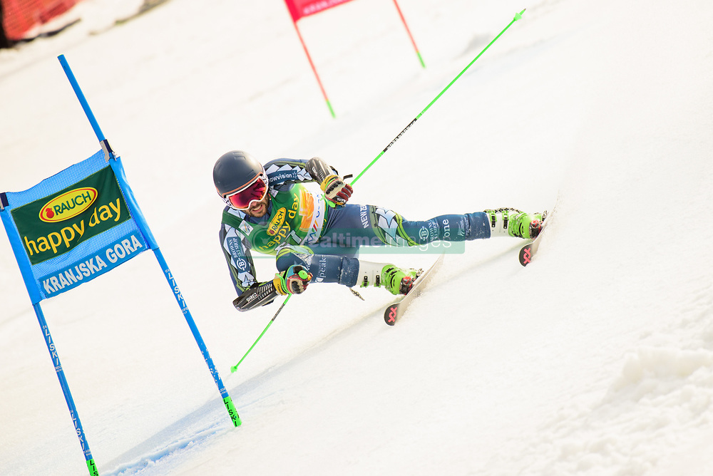 March 9, 2019 - Kranjska Gora, Kranjska Gora, Slovenia - Adam Barwood of New Zeland in action during Audi FIS Ski World Cup Vitranc on March 8, 2019 in Kranjska Gora, Slovenia. (Credit Image: © Rok Rakun/Pacific Press via ZUMA Wire)