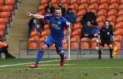 Jack Marriott of Peterborough United celebrates his goal - Mandatory by-line: Joe Dent/JMP - 18/02/2018 - FOOTBALL - Bloomfield Road - Blackpool, England - Blackpool v Peterborough United - Sky Bet League One