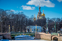 ST. PETERSBURG - CIRCA MARCH 2013: Church of the Savior on Blood. in St. Petersburg, circa March 2013. This is a tourist attraction with 221 museums, 2000 libraries, and 80  plus theaters within the city.