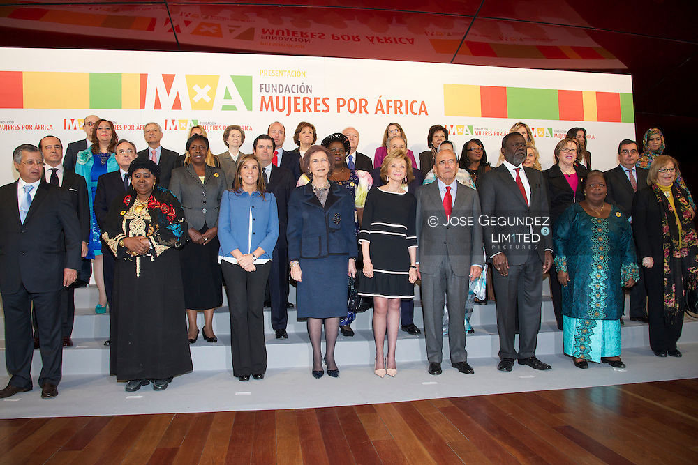 """Queen Sofia of Spain attends the Presentation Foundation """"Women in Africa"""" (Mujeres por Africa) at Reina Sofia Museum in Madrid"""