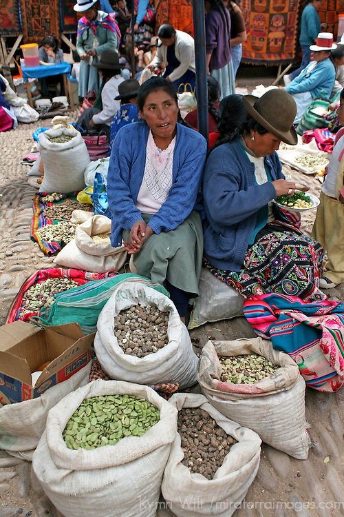 Americas, South America, Peru, Pisac. Vendor at Pisac Market.