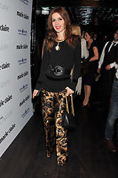 LARA BOHINC at a party to celebrate the launch of the Marie Claire Runway Magazine held at Le Baron a The Embassy, Old Burlington Street, London on 1st February 2012.