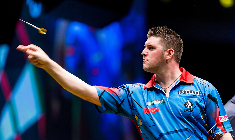 MELBOURNE, Australia - Saturday 19 August 2017: Daryl Gurney during the quarter finals of the Unibet Melbourne Dart Masters at Hisense Arena on Saturday 19 August 2017.<br /> <br /> <br /> Photo Credit: Tim Murdoch/Tim Murdoch Photography