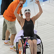 Lisette Teunissen FROM HOLLAND WINNER OF Women's 50m Backstroke - S4 AT THE LONDON 2012 PARALYMPIC GAMES