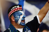 Picture by Andrew Tobin/Focus Images Ltd +44 7710 761829<br /> 14/08/2013<br />  A Scottish supporter cheers during the International Friendly match at Wembley Stadium, London.