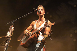 June 30, 2018 - Milwaukee, Wisconsin, U.S - JJ JULIUS SON of Kaleo performs live at Henry Maier Festival Park during Summerfest in Milwaukee, Wisconsin (Credit Image: © Daniel DeSlover via ZUMA Wire)