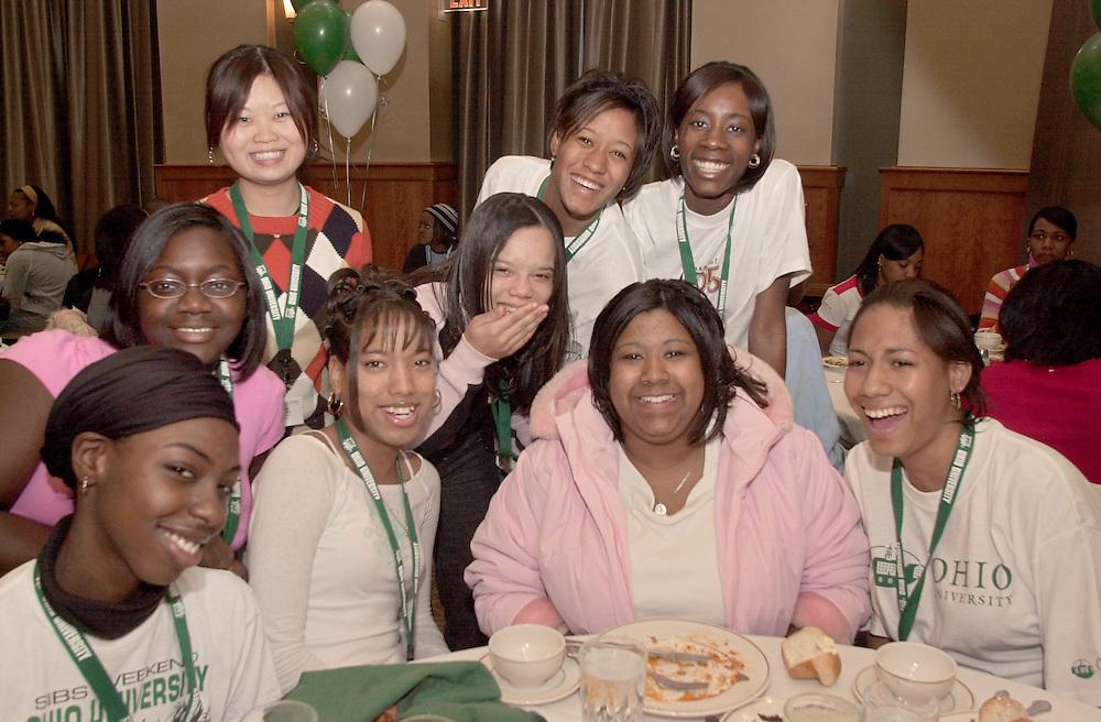 Left to right: Bridget Benard, Cameria Blake, Joyce Meng, Teirra Tucker, Camara Stewart, ..., Charaya Wagner, Ashleigh Mitchell, Tiffany Gilliam