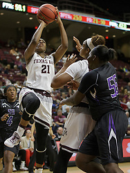SFA vs. Texas A&M in a NCAA women's basketball game Nov. 20, 2016, in College Station, Texas.