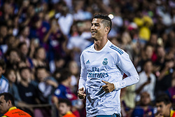 August 13, 2017 - Barcelona, Catalonia, Spain - Real Madrid forward RONALDO warms up at the beginning of the second half of the Spanish Super Cup Final 1st leg against Real Madrid at the Camp Nou stadium in Barcelona. (Credit Image: © Matthias Oesterle via ZUMA Wire)