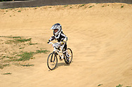 Tristan Von Rissen, 3 of Cincinnati during the American Bicycle Association Kettering BMX single races at Delco Park in Kettering, July 1, 2012.