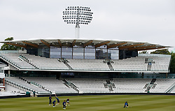 England's Ben Stokes takes a catch during the nets session at Lord's, London.