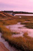 Image of a waterfront home in the town of Wellfleet on Cape Cod, Massachusetts, New England, property released