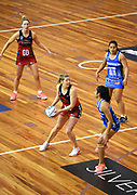 Tactix player Anna Thompson during their ANZ Netball Premiership game Tactix v Mystics. Trafalgar Centre, Nelson, New Zealand. Sunday May 21 2017. ©Copyright Photo: Chris Symes / www.photosport.nz
