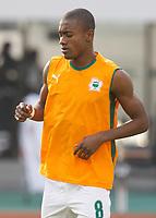 Photo: Steve Bond/Richard Lane Photography.<br />Nigeria v Ivory Coast. Africa Cup of Nations. 21/01/2008. Salomon Kalou of Ivory Coast & Chelsea warms up