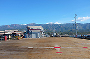 Stearns Wharf with the Santa Ynez Mountains in the Background