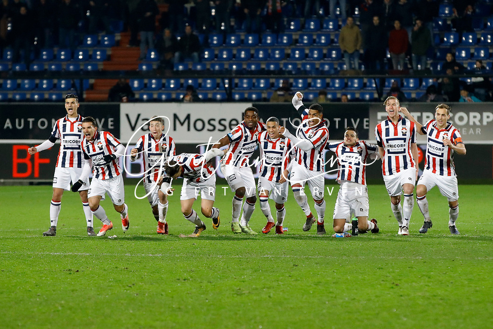 players of Willem II celebrate the victory