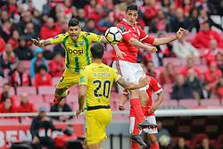 April 30, 2018 - Na - Lisbon, 04/28/2018 - Sport Lisboa e Benfica received this afternoon at the Estádio da Luz in Lisbon, CD Tondela in the 32nd matchday of the NOS Primera Liga, season 2017/2018. Raúl Jiménez; Joaozinho  (Credit Image: © Atlantico Press via ZUMA Wire)