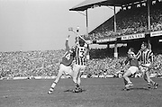 Cork and Kilkenny players try to catch the slitor during at the All Ireland Senior Hurling Final, Cork v Kilkenny in Croke Park on the 3rd September 1972. Kilkenny 3-24, Cork 5-11.
