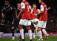Photo: Tony Oudot.<br /> Arsenal v Manchester City. The Barclays Premiership. 17/04/2007.<br /> Cesc Fabregas of Arsenal scores the second goal