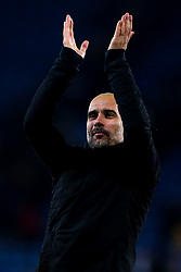 Manchester City manager Pep Guardiola celebrates victory over Leicester City - Mandatory by-line: Robbie Stephenson/JMP - 18/12/2018 - FOOTBALL - King Power Stadium - Leicester, England - Leicester City v Manchester City - Carabao Cup Quarter Finals