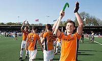 AMSTELVEEN -   Sander Baart van OZ     na de beslissende finalewedstrijd om het Nederlands kampioenschap hockey tussen de mannen van Amsterdam en Oranje Zwart (2-3).  COPYRIGHT KOEN SUYK