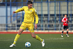 Jovan Vidovic of Domzale at 24th round of  Slovenian football first league PrvaLiga Telekom Slovenije match between NK Domzale and NK Interblock, on March 14, 2009, in Domzale, Slovenia. (Photo by Vid Ponikvar / Sportida)