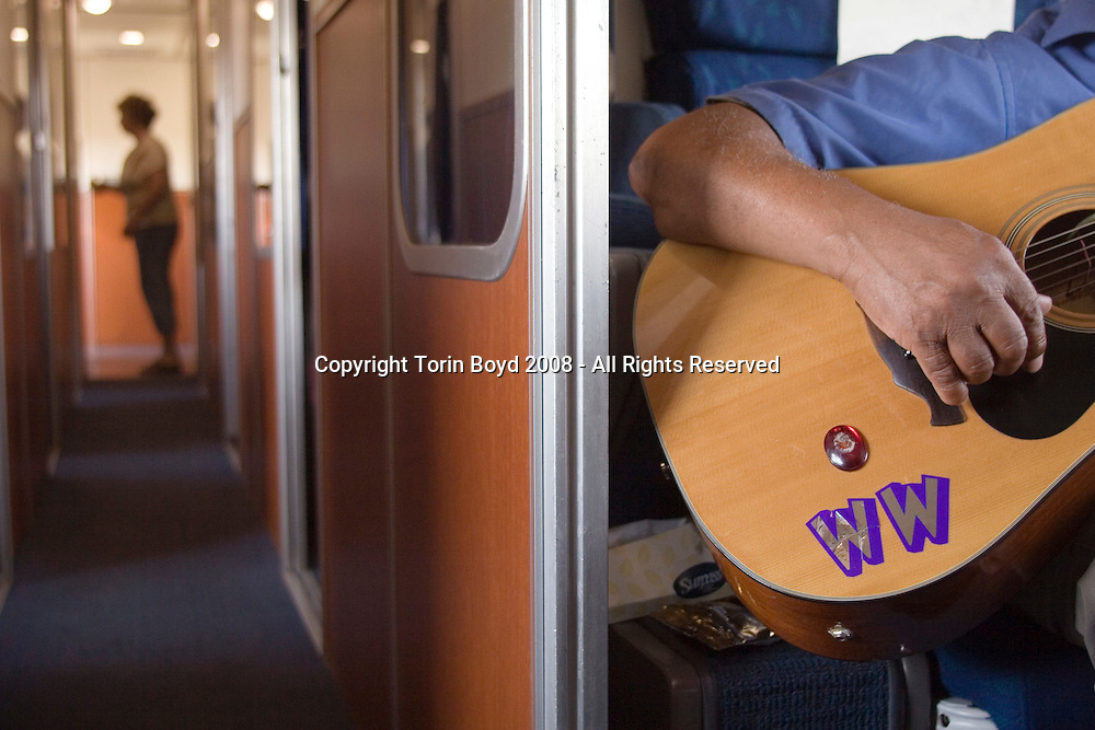 Montana: train journey from Washington DC (suburbs) to Washington State with Piedmont Style blues artisrts Warner Williams and Jay Summerour.