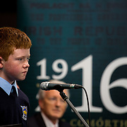 08/12/2015                <br /> Limerick City & County Council launches Ireland 2016 Centenary Programme<br /> <br /> An extensive programme of events across the seven programme strands of the Ireland 2016 Centenary Programme was launched at the Granary Library, Michael Street, Limerick, last night (Monday, 7 December 2015) by Cllr. Liam Galvin, Mayor of the City and County of Limerick.<br /> <br /> Led by Limerick City & County Council and under the guidance of the local 1916 Co-ordinator, the programme is the outcome of consultations with interested local groups, organisations and individuals who were invited to participate in the planning and implementation of events and initiatives during 2016.  <br /> <br />  Performing at the event was Liam Broderick, St. Mary's Boys National School, Abbeyfeale Co. Limerick. Picture: Alan Place