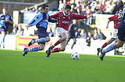 Peter Spurrier Sports  Photo.email pictures@rowingpics.com.Tel 44 (0) 7973 819 551.Nationwide Division 2 .Wycombe Wanders FC v Swindon Town FC..27-10-2001.1st Half..David Duke.