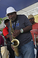 """Friends and family came together Sunday afternoon to pay tribute to jazz musician and founding member of the Association for the Advancement of Creative Musicians, Kelan Phil Cohran who passed away June 28th, 2017 at the age of 90. The event took place at the 63rd Street Beach House located on 63rd and the lakefront.<br /> <br /> Please 'Like' """"Spencer Bibbs Photography"""" on Facebook.<br /> <br /> Please leave a review for Spencer Bibbs Photography on Yelp.<br /> <br /> All rights to this photo are owned by Spencer Bibbs of Spencer Bibbs Photography and may only be used in any way shape or form, whole or in part with written permission by the owner of the photo, Spencer Bibbs.<br /> <br /> For all of your photography needs, please contact Spencer Bibbs at 773-895-4744. I can also be reached in the following ways:<br /> <br /> Website – www.spbdigitalconcepts.photoshelter.com<br /> <br /> Text - Text """"Spencer Bibbs"""" to 72727<br /> <br /> Email – spencerbibbsphotography@yahoo.com"""