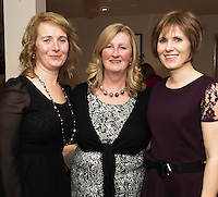 07/12/2014 Geraldine Kilkenny, Kinvara , Mary Donnellan and Sarah Moylan from Gort, at The Pier Head, Kinvara for Oiche Nollaig na mban (night out for the chicks!) started out as a fun Christmas night for the ladies. Organised by Mary Moloney, Ruth sexton, Valerie Forkan, Sarah Linnane & Jackie Veale, the women quickly decided to make it a fundraiser. Being a women's night the obvious charity of choice was breast cancer awareness, the NBCRI was the chosen beneficiary.  120 participated in the chain link, all sporting a variety of pink bras! Some Christmas carols at the village tree while hanging the bras on the tree was another highlight! PHOTO:Andrew Downes