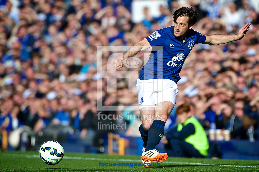 Leighton Baines of Everton during the Barclays Premier League match at Goodison Park, Liverpool<br /> Picture by Ian Wadkins/Focus Images Ltd +44 7877 568959<br /> 18/10/2014