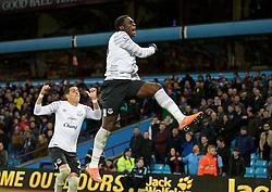 BIRMINGHAM, ENGLAND - Tuesday, March 1, 2016: Everton's Romelu Lukaku celebrates scoring the third goal against Aston Villa during the Premier League match at Villa Park. (Pic by David Rawcliffe/Propaganda)