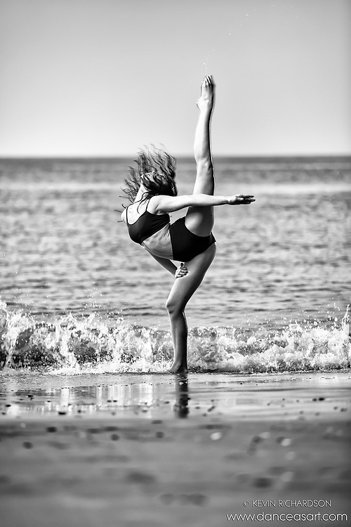 Dance As Art The New York City Photography Project Black and White Coney Island Ocean Series with dancer Ashley Kern