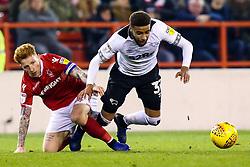 Jayden Bogle of Derby County takes on Jack Colback of Nottingham Forest - Mandatory by-line: Robbie Stephenson/JMP - 25/02/2019 - FOOTBALL - The City Ground - Nottingham, England - Nottingham Forest v Derby County - Sky Bet Championship