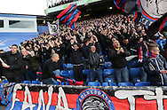 Crystal Palace's ultras in action<br /> <br /> Barclays Premier League - Crystal Palace  vs Arsenal  - Selhurst Park - England - 21st February 2015 - Picture David Klein/Sportimage
