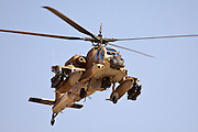 Israeli Air force Apache AH-64A in flight