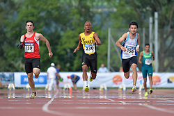 04/08/2017; Pototschnig, Alexander, T47, AUT, Thomas, Tevaughn Kevin, T46, JAM, Piriz, Alberto Nicolas, ARG at 2017 World Para Athletics Junior Championships, Nottwil, Switzerland