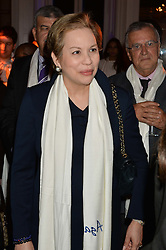 HH PRINCESS LALLA JOUMALA OF MOROCCO at White by Agadir hosted by the Moroccan National Tourist Office to celebrate the White City in Morocco in the presence of H.H.Princess Lalla Joumala, Ambassador of HM The King of Morocco held at Il Bottaccio, 9 Grosvenor Place, London on 4th November 2014.