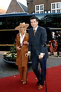 Zijne Hoogheid Prins Floris van Oranje Nassau, van Vollenhoven en mevrouw mr. A.L.A.M. Söhngen zijn zaterdag 22 oktober in de kerk van Naarden in het  huwelijk getreden. De prins is de jongste zoon van Prinses Magriet en Pieter van Vollenhoven.<br /> <br /> Church Wedding Prince Floris and Aimée Söhngen. <br /> <br /> Church Wedding Prince Floris and Aimée Söhngen in Naarden. The Prince is the youngest son of Princess Margriet, Queen Beatrix's sister, and Pieter van Vollenhoven. <br /> <br /> Op de foto / On the photo;<br /> <br /> <br /> <br /> richard krajicek en Daphne Deckers