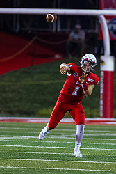 NORMAL, IL - September 07: Brady Davis during a college football game between the ISU (Illinois State University) Redbirds and the Morehead State Eagles on September 07 2019 at Hancock Stadium in Normal, IL. (Photo by Alan Look)