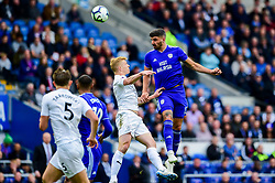 Callum Paterson of Cardiff City contends for the aerial ball with Ben Mee of Burnley - Mandatory by-line: Ryan Hiscott/JMP - 30/09/2018 -  FOOTBALL - Cardiff City Stadium - Cardiff, Wales -  Cardiff City v Burnley - Premier League