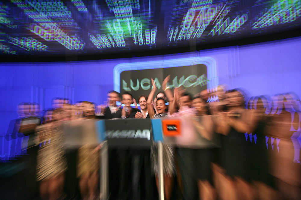 Mercedes Benz Fashion Week Spring 2009 &ndash; Luca Luca Chief Executive Officer, President and Creative Director <br /> To Ring The NASDAQ Stock Market Closing Bell